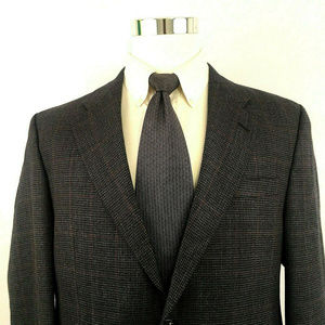 Ralph Lauren Houndstooth Blazer Two Button Sz 43R